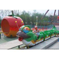 长春公园效益火爆的儿童游乐设备青虫滑车优质厂家创艺游乐