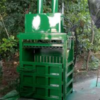 下脚料稻壳干草打块机 富兴定做立式60吨塑料薄膜液压打包机 金属边角料压块机