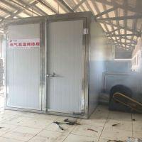 燃气烤漆房 天然气液化气加热高温烤漆房 塑粉烘干房厂家直销 鸿鑫