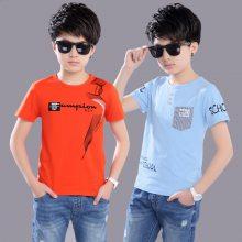 北京童装批发市场夏季8-12岁童装套装批发中大童童装韩版T恤短裤套装批发货到付款网站