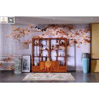 如金红木博古架-花梨木博古架-古典中式家具