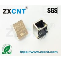 ZXCNT品牌RJ45网口百兆滤波器插座,10P10C带灯支持POE功能ZXRJ-197-01NL