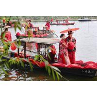 大唐牌FG01 4米5米仿古婚礼道具船花船结婚拍婚纱照道具船娶亲船