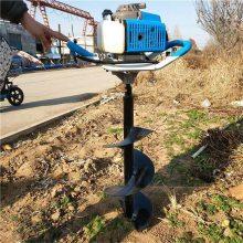 菏泽立柱挖坑机 手推40直径打窝机 木桩子钻眼机多少钱