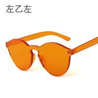 欧美经典果冻太阳镜9803 男女糖果色墨镜 一体式无框太阳眼镜