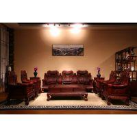 东阳和谐红木厂家直销 红木家具 红酸枝巴里黄檀沙发 11件套沙发组合
