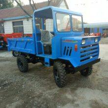 广西直销山路专用四驱拖拉机3T农用四轮运输车志成25马力木头运输四轮车