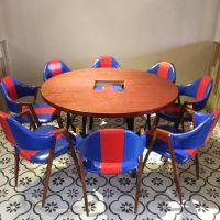 丽水复古餐厅休闲椅铁艺椅子 主题餐厅A字椅 潮汕牛肉火锅餐桌椅