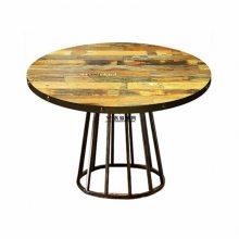 水管脚架金属复古风餐厅桌子,珠海工业风复古家具定制加工