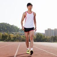 中健新款春夏田径服套装 男 马拉松跑步健身训练衣 男 短裤比赛服
