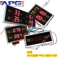 PM2.5环境监测系统, ADG品牌颗粒物检测大屏
