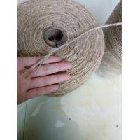 打捆机专用麻绳 三股捆麻绳 天然三股黄麻绳生产厂家