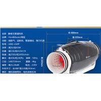 6寸调速静音鸿冠管道抽风机HDD-150P客厅卧室排风换气扇现货