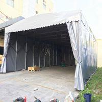 无锡市南长区阳光雨棚布 移动仓储物流雨棚 推拉帐篷厂家