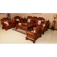 名琢世家高端红木家具10件套爆款沙发刺猬紫檀