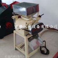 齐河县多功能对辊荞麦大豆挤扁机 自产粮食加工设备