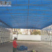 上海鑫元美华雨棚定制移动推拉棚电动雨棚户外伸缩遮阳棚布大型仓库蓬厂家
