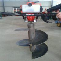 自走式挖坑机 富兴二冲程植树打坑机厂家 载柱子钻眼机价格