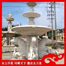 广场花样式石材喷泉 动物流水水钵 石雕喷泉厂家