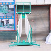 工厂批发10米12米铝合金升降平台 双柱式电动液压垂直升降机