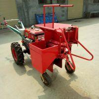 手推式新款汽油柴油农用收获机 小型玉米收获机 小块地用的掰玉米机器