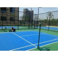 水泽士标准羽毛球球场施工 纯水性WPPU材料 环保材料地坪橡胶地板