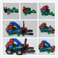 变身机器人 益智早教 百变小颗粒积木玩具套装