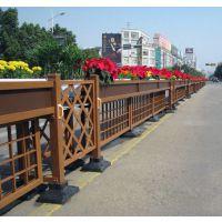 绍兴万维园艺围栏绿化花箱护栏 城市道路市政工程园林景观隔离市政景观花箱 pvc隔离带组合花盆