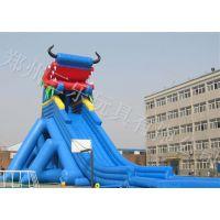 河南三乐定制大型龙头充气水滑梯超刺激
