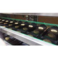 供应全自动甜甜圈成型 发酵油炸淋糖浆生产一体机 煜丰甜甜圈设备厂