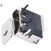 HDMI高清接口A型USBDIP插板19P母座三排针单耳带螺丝孔