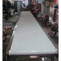 山东鲁宁厂家定做不锈钢食品带式白色pvc输送机