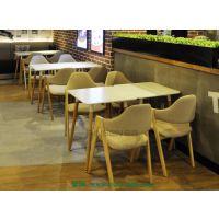 深圳厂家定做西餐厅桌椅,米粉店连锁餐饮餐桌椅组合可定制