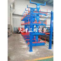 杭州悬臂式货架厂家 重型管材存储 异型材仓库图片 浙江伸缩管材货架