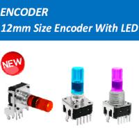 进口发光RGB三色光电带LED旋转增量式脉冲编码器开关可替代bourns