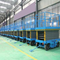 济南金创专业生产移动剪叉式升降平台SJY0.5-8 10米维修路灯安装监控升降梯 小型施工升降机