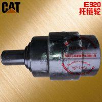 广州卖卡特E320挖掘机履带托带轮配件电话18027299616 卡特320托带轮