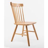 北欧白橡木餐椅实木休闲椅餐厅靠背椅简约咖啡椅现代温莎椅
