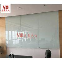 深圳磁性挂式白板Z南山钢化烤漆玻璃白板H涂鸦墙定做送货安装