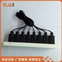 微型电磁阀组八联排阀24V 数币电磁阀价格便宜