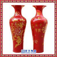 景德镇陶瓷大花瓶摆件手工手绘青花瓷家居客厅酒店落地大号花瓶
