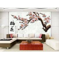 大型壁画厂 客厅电视背景墙壁纸壁画无纺布3d墙纸中式山水 水墨竹子