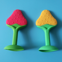 定制水果形状硅胶婴儿牙胶 宝宝磨牙棒 咬咬乐安抚玩具