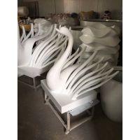 抽象天鹅雕塑水上装饰 景观摆件艺术仿真动物 玻璃钢广场鹤群仿真彩绘