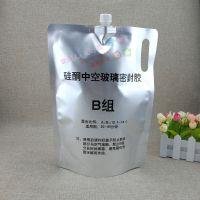 厂家订做工业液体吸嘴袋 3公斤袋装AB密封胶水铝箔带嘴自立袋 可定制印刷图案