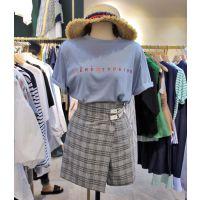 成都便宜时尚韩版女装T恤几元服装夏季T恤纯棉短袖女士上衣库存服装