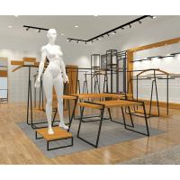 2018年新款爱衣服品牌展柜形象效果图 高档商场快时尚女装货架组装设计