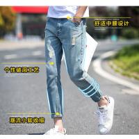 2018夏季新款日系男式牛仔裤男装韩版小脚裤九分裤学生长裤子潮流