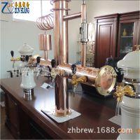 自酿啤酒设备厂家直销啤酒机定制紫铜售酒柱啤酒配套设备
