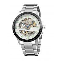 厂家批发男款镂空全自动机械手表钢带防水夜光表